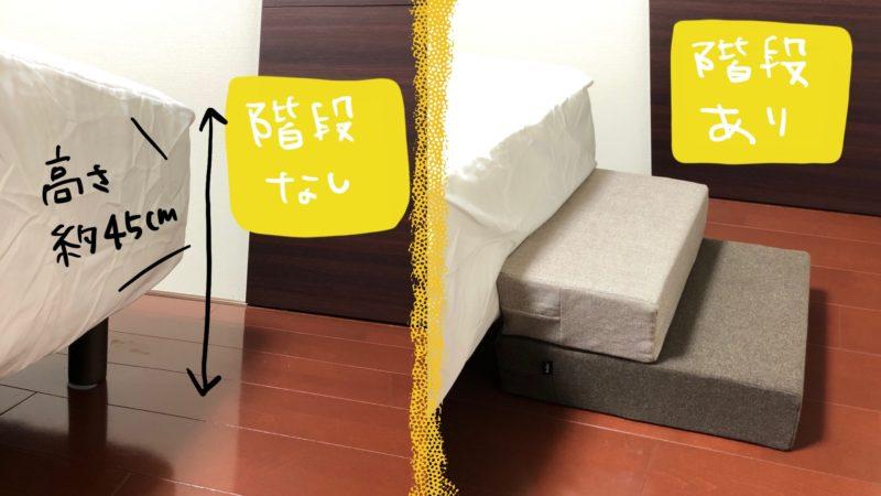 ペット用階段の有無比較
